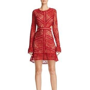 Like new For Love and Lemons lace cutout dress